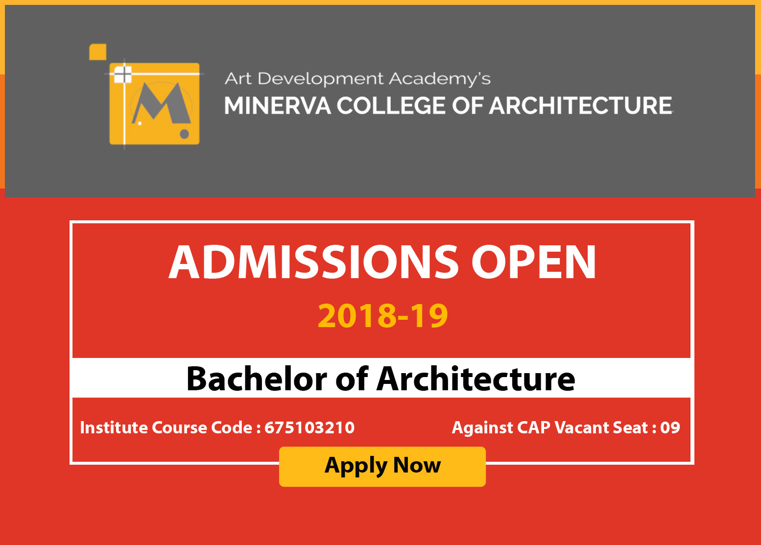 Admission open for B. Architecture